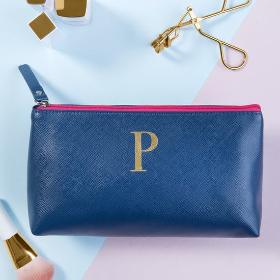 Monogram alphabet Make-Up Bag
