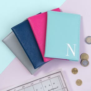 Monogrammed Coloured Passport Cover