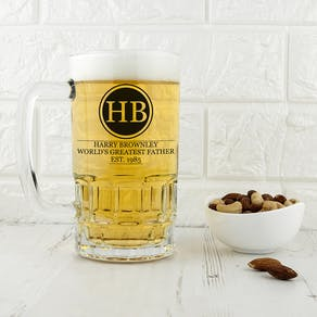 Monogrammed 'Greatest Dad' Beer Tankard