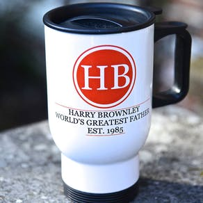 Monogram 'Greatest Dad' Travel Mug