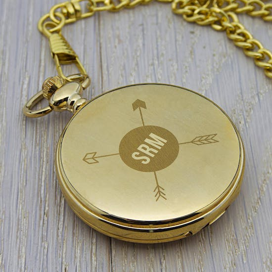 Monogramed Pocket Watch