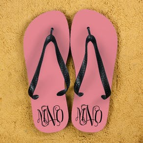 Anchor Style Personalised Flip Flops