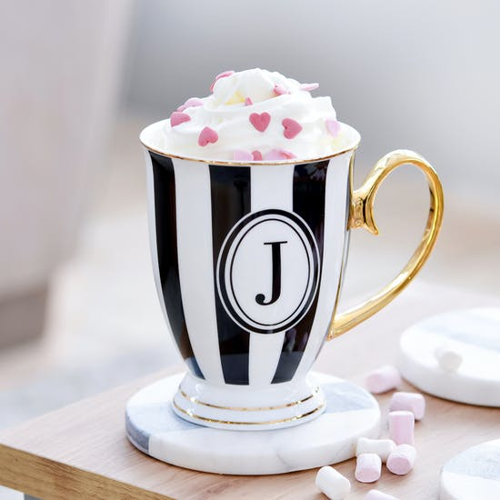 Monogram Stripy Mug