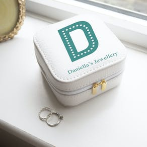 Monogram White Jewellery Travel Case