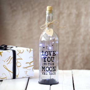 Love You To The Moon And Back LED Bottle