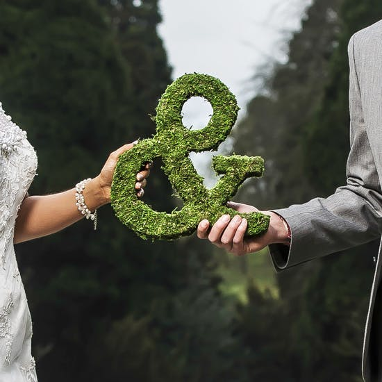 Real Moss Covered Ampersand