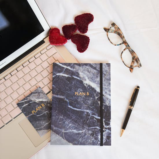 Marble Notebook And Card Set