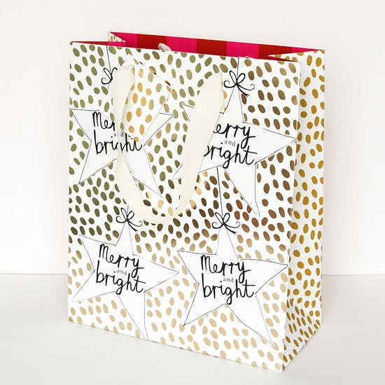 Merry And Bright Christmas Gift Bag