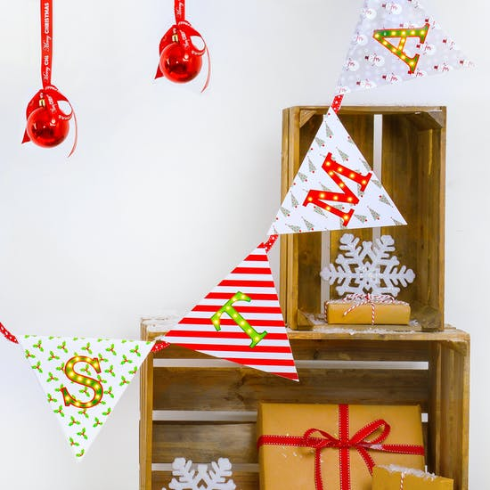 Merry Christmas Light Up Bunting