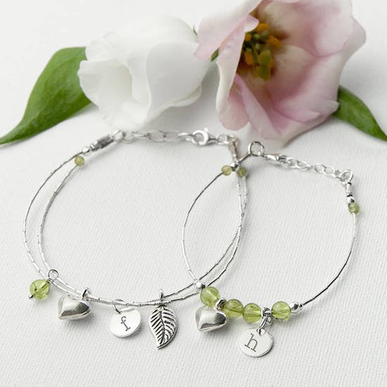 Mother And Daughter Personalised Bracelets