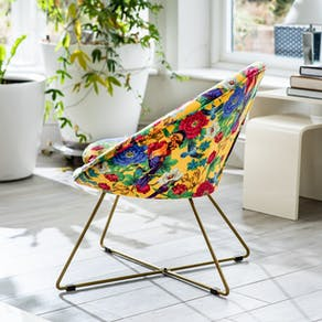 Mexican Style Floral Velvet Chair