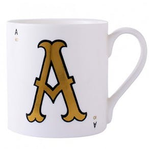 Nine Carat Gold Leaf Mugs