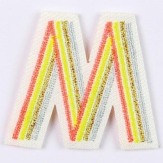 Neon Alphabet Fabric Iron On Patch