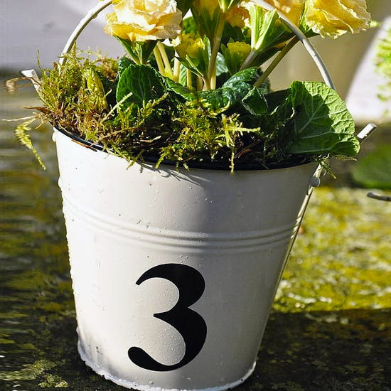 Number Tile Style Buckets
