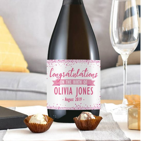 New Baby Personalised Bottle Of Prosecco