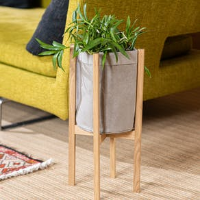 Oak Wood Stand With Washable Craft Paper Pot