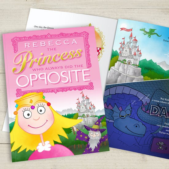 The 'Opposite' Princess Customised Book