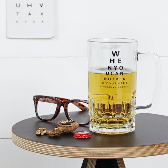 Opticians Chart Beer Tankard