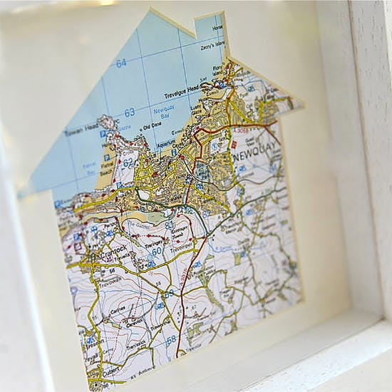 Our House Personalised Map Artwork