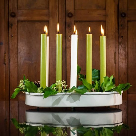 Oval Metal Candle Holder