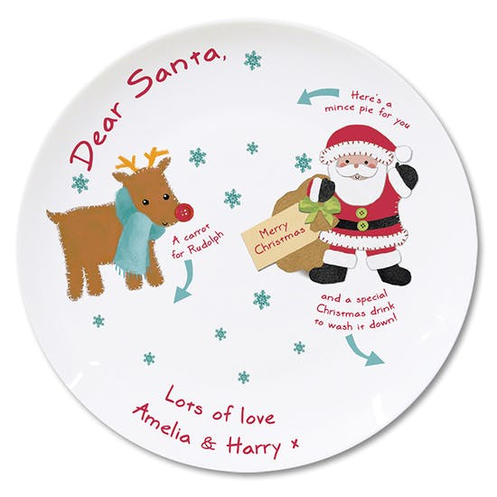 Personalised 'Father Christmas' Plate