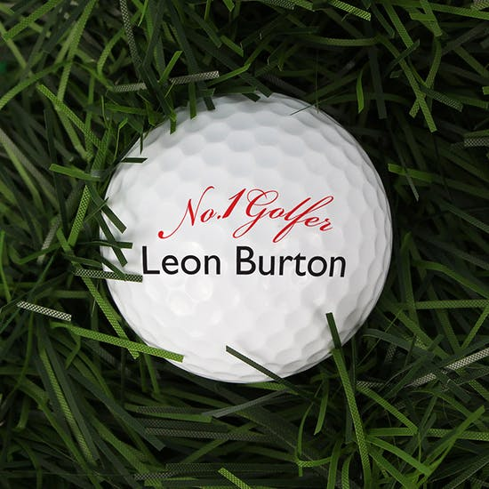 Personalised No1 Golfer Golf Ball