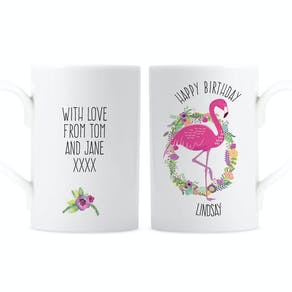 Personalised Flamingo Design Mug
