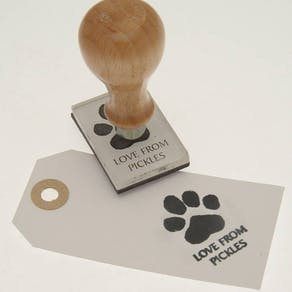 Paw Print Personalised Stamp
