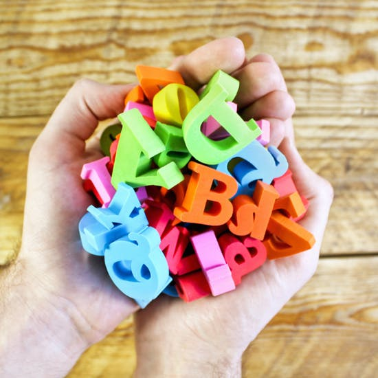 Pick and Mix Alphabet Erasers