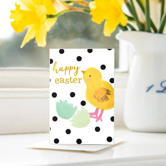 Pack Of Ten Happy Easter Chick Cards