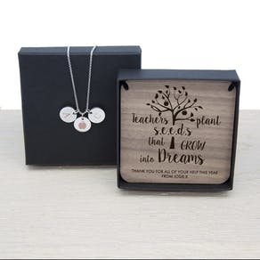 Teacher Necklace And Keepsake