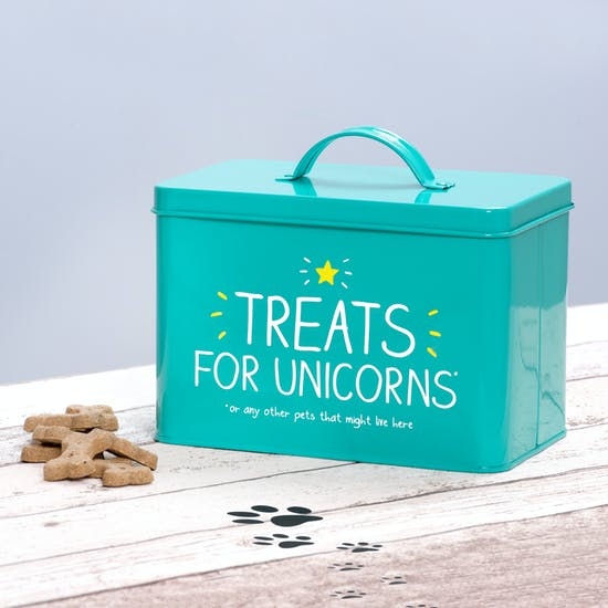 Pet Treat Storage Tin And Treats