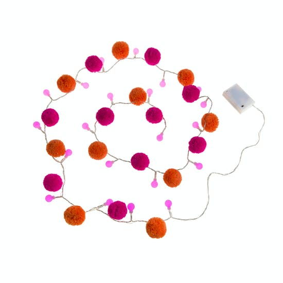 Pom Pom Fairy Light Garland