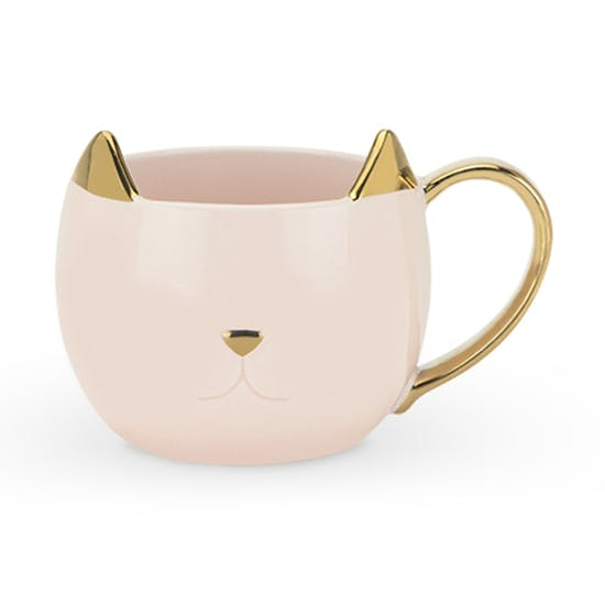 Pink Ceramic Cat Mug The Letteroom