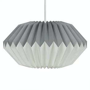 Dove Grey Paper Origami Lamp Shade