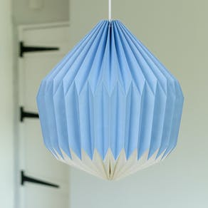 Paper Origami Style Lampshade In Cornflower Blue