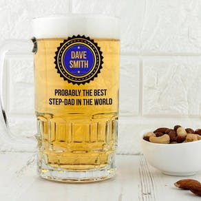 Personalised Best Step Dad Tankard