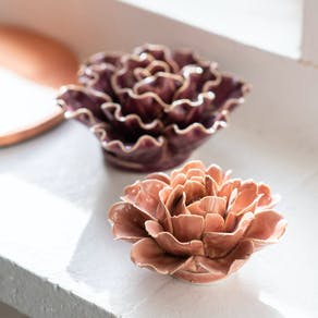 Porcelain Flower Coral Decorations