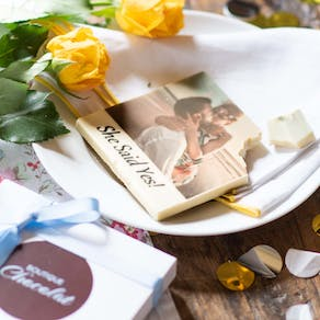 Printed Photo Engagement Chocolate Square