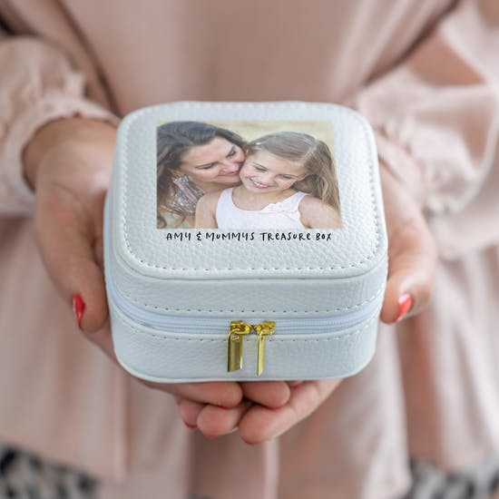 Printed Photo Jewellery Travel Case For Mum