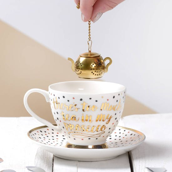 Prosecco Tea Cup Set With Infuser