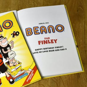 Personalised 2021 Beano Annual Gift Book