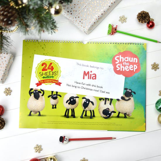 Personalised 24 Sheeps Activity Advent