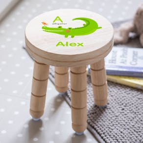 Childs Personalised Alphabet Animal Stool