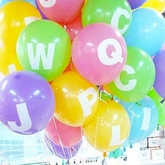 Personalised Alphabet Balloons