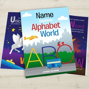 Personalised Alphabet World Colouring Book