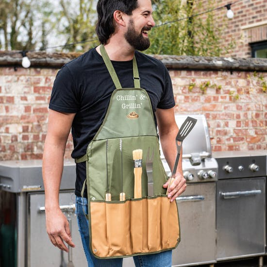 Personalised Barbecue Apron Gift Set