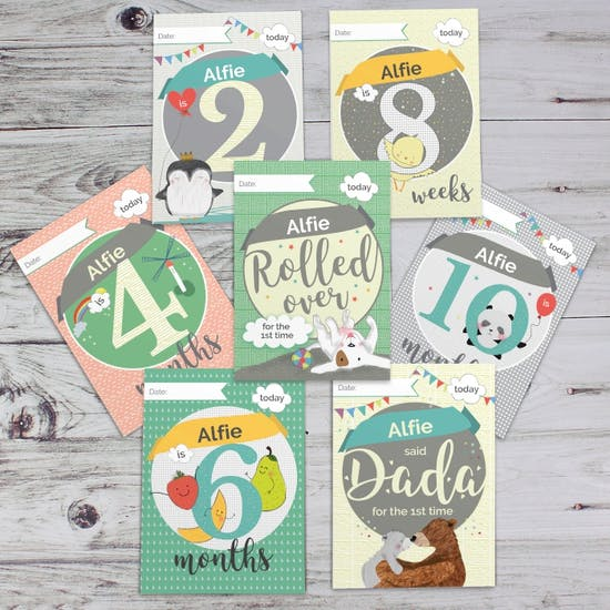 Personalised Baby Record Cards