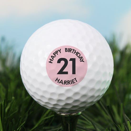 Personalised Big Birthday Golf Ball