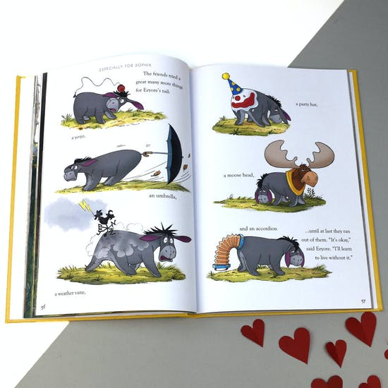 Personalised book of Winnie the Pooh Stories